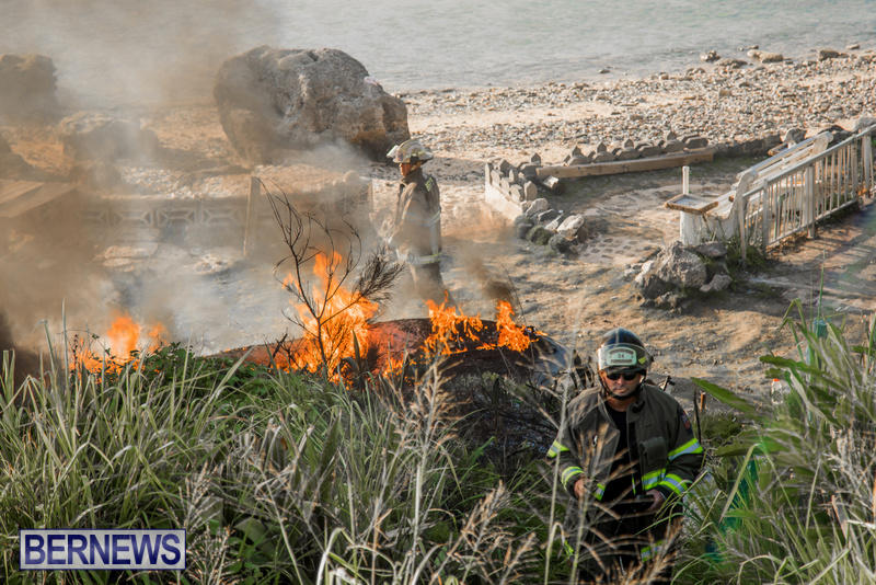 Boat Brush Fire Dockyard Bermuda, July 13 2017 (3)