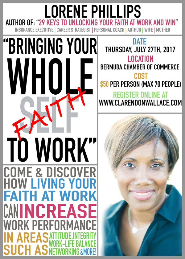 Bringing your Whole Faith to Work Bermuda July 2017