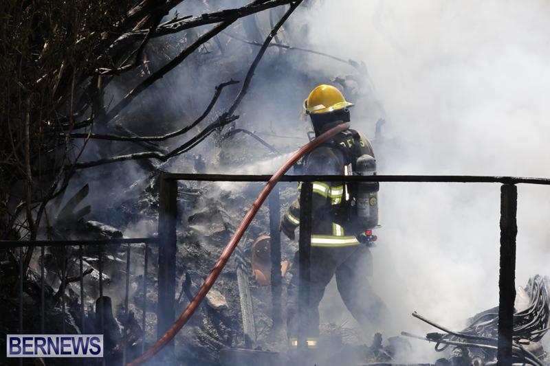 Structural fire at 11 Turk's Head Lane Bermuda July 14 2017 (1)