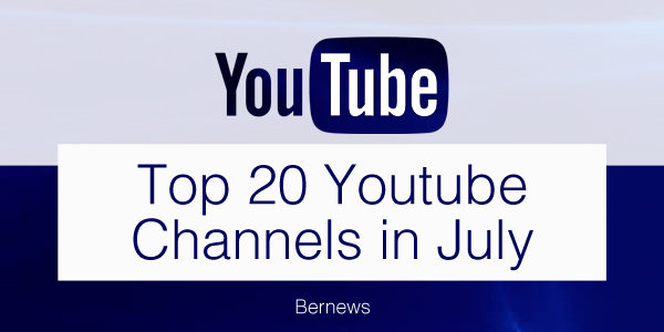 top 20 youtube channels TC July