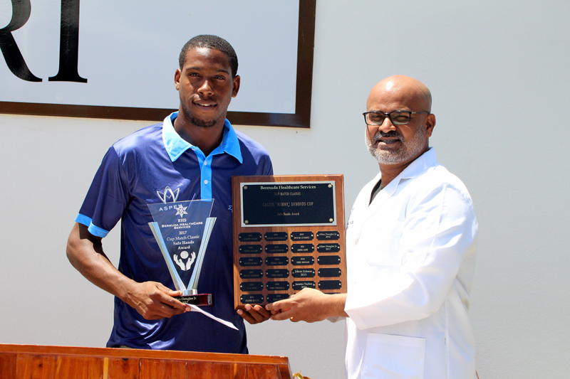 Allan Douglas Jr. Wins Safe Hands Award Bermuda August 8 2017