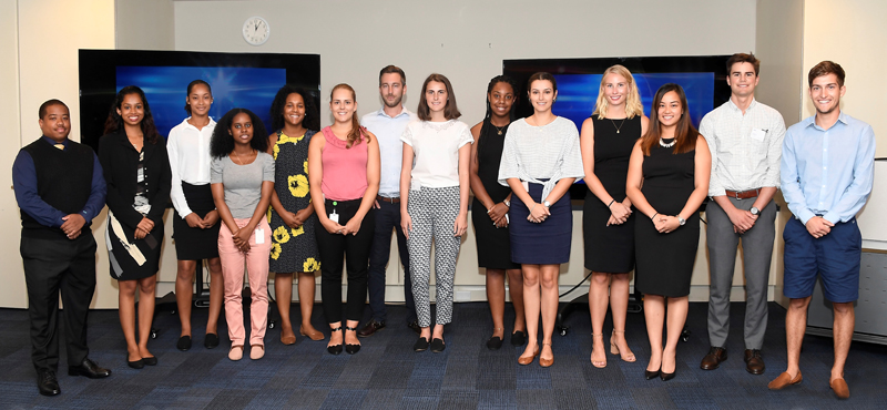 BFIS Interns presentation group Bermuda August 2017