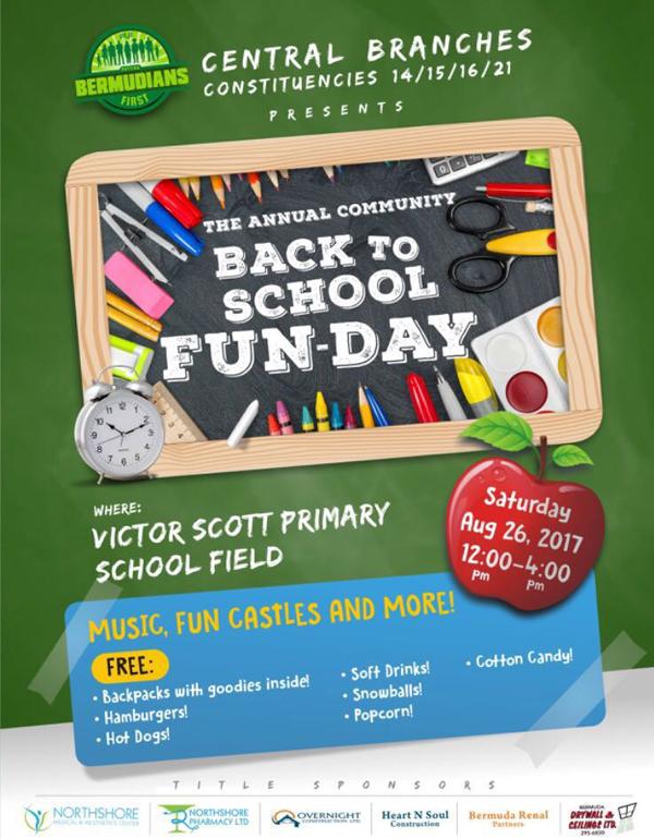 Back to School Fun Day Bermuda Aug 2017