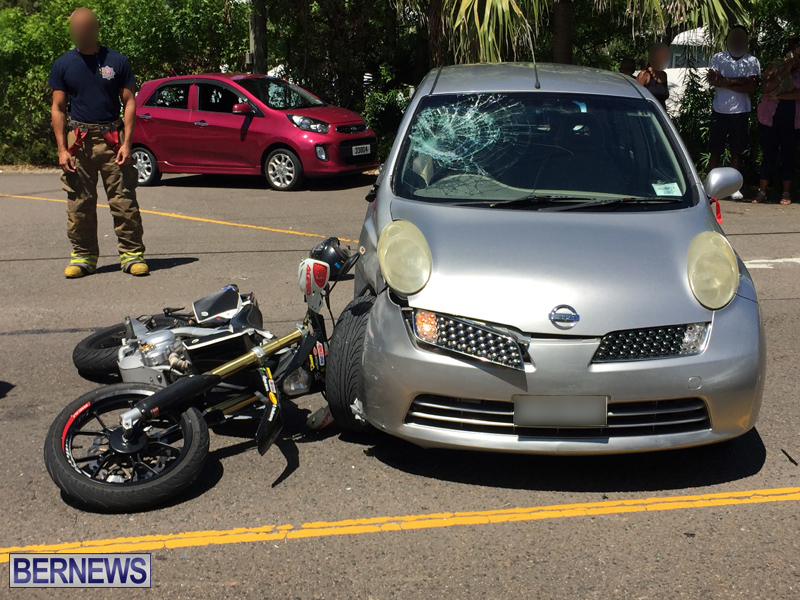 Collision motorcycle and car Bermuda Aug 24 2017 (1)