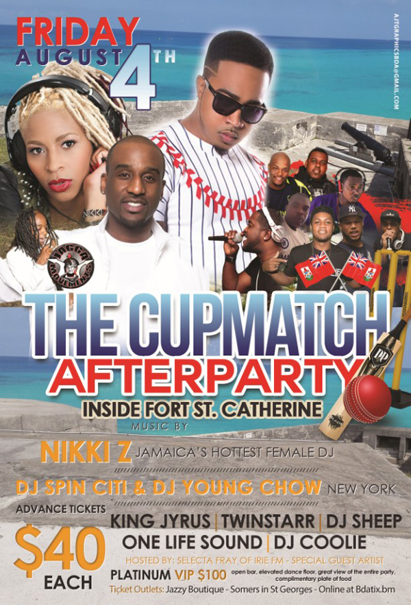 Cupmatch Afterparty Bermuda August 2017