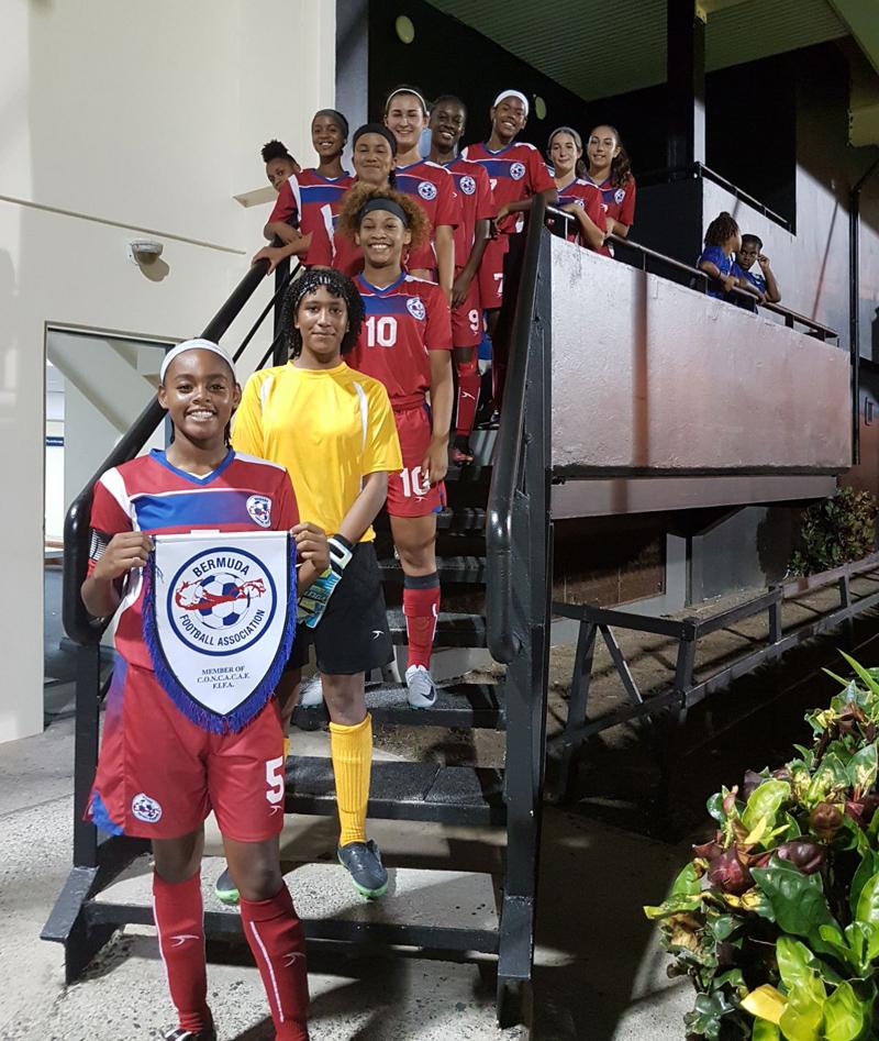 Football Women's U17 Bermuda Aug 2017 (2)