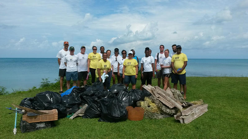 Group shot of EY team Bermuda Aug 2017