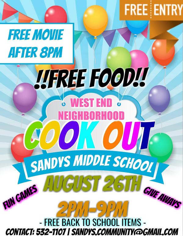 West End Neighborhood Cook Out Bermuda August 25 2017