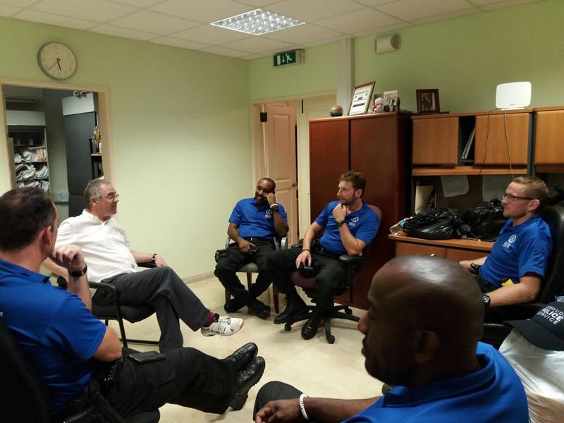 BPS Officers BVI Deployment HE Gov Rankin visit Bermuda Sept 2017