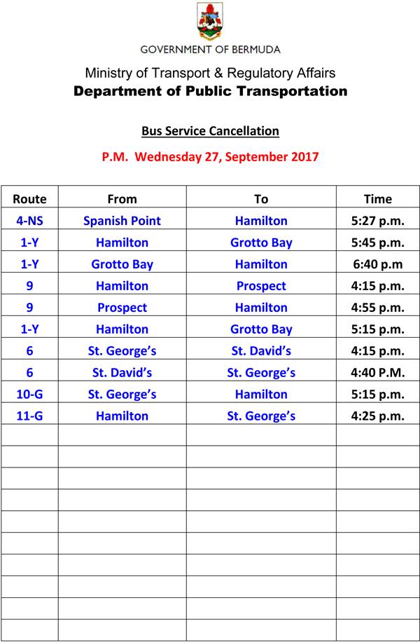 Bus Service Cancellation Wednesday 27-9-2017-3