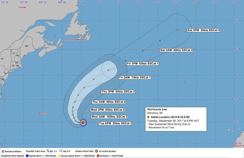 Hurricane Lee Bermuda Sept 26 2017 1