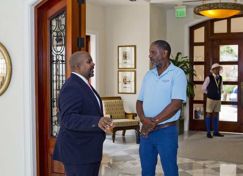 Minister Simmons and MP Furbert Tucckers Point Bermuda Sept 27 2017 (2)