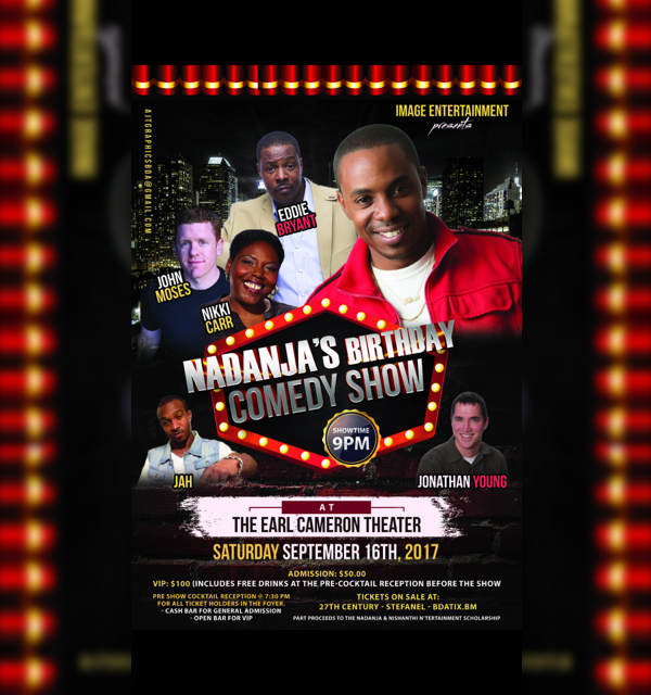 Nadanja's Birthday Comedy Show Bermuda September 16 2017