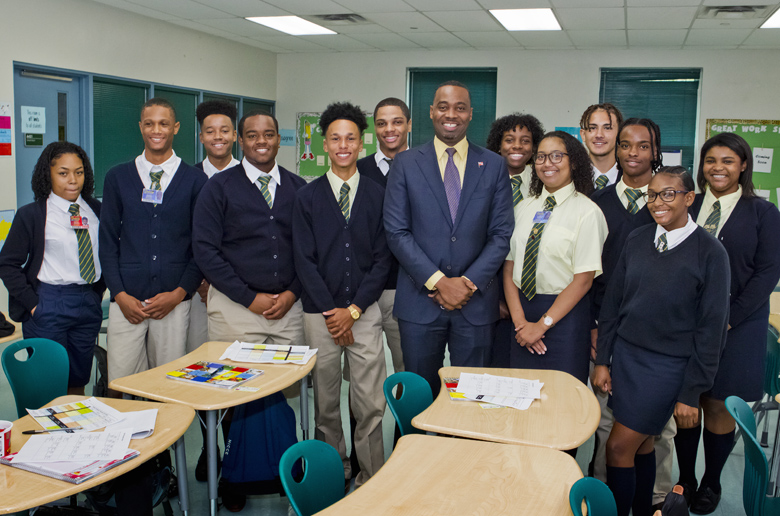 Premier School Greeting Berkeley Bermuda Sept 11 2017 (3)