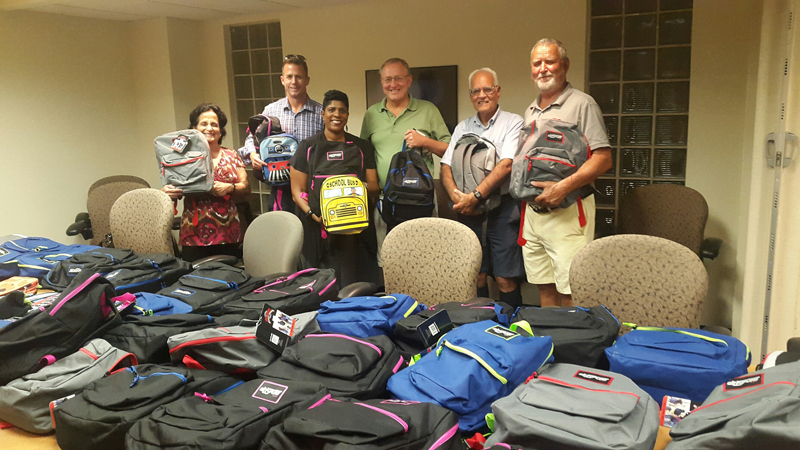Rotary Backpack Presentation Bermuda Sept 2017