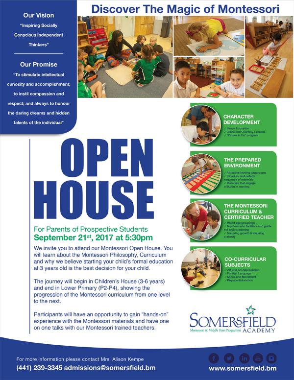 Somersfield Academy Open House Bermuda Sept 2017