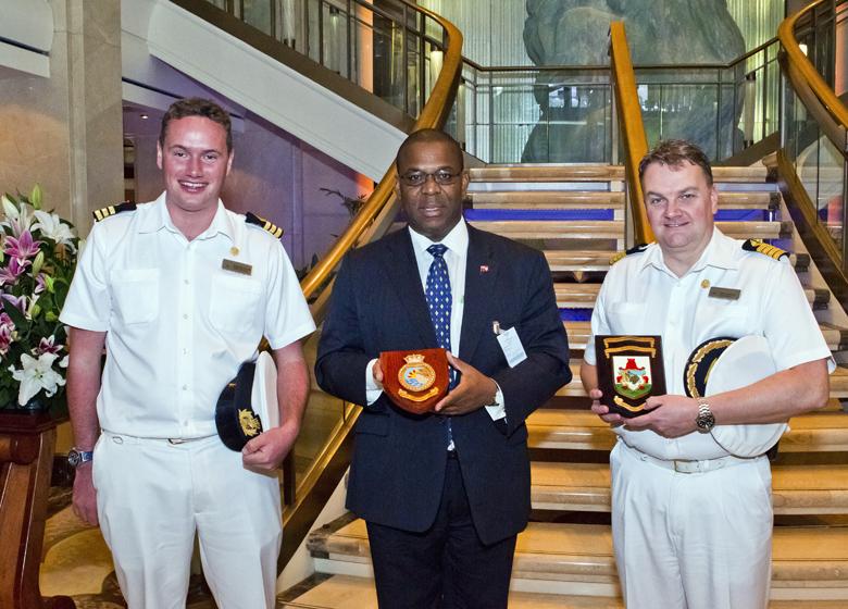 Tourism Minister Inaugural Visit MS Aurora Bermuda Sept 2017