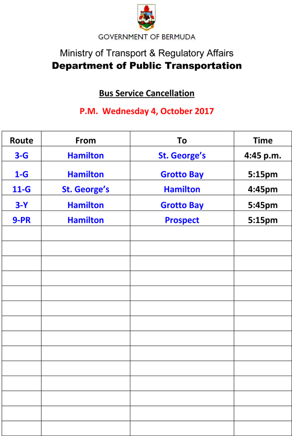 Bus Service Cancellation Wednesday 4-10-2017-2