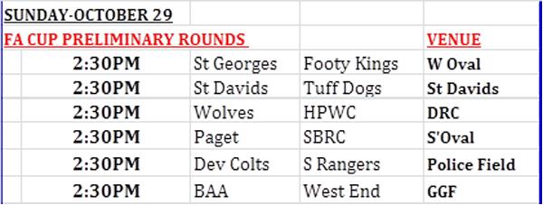 FA Cup Preliminary Draw scheduled Bermuda Oct 2017