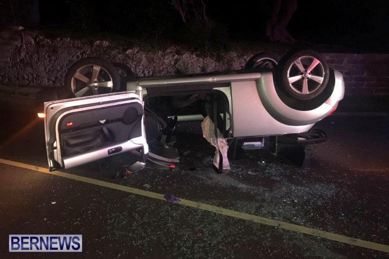Overturned-Car-Devonshire-Bermuda-October-11-2017-2
