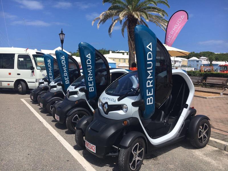 Twizy mini cars Bermuda Oct 2017