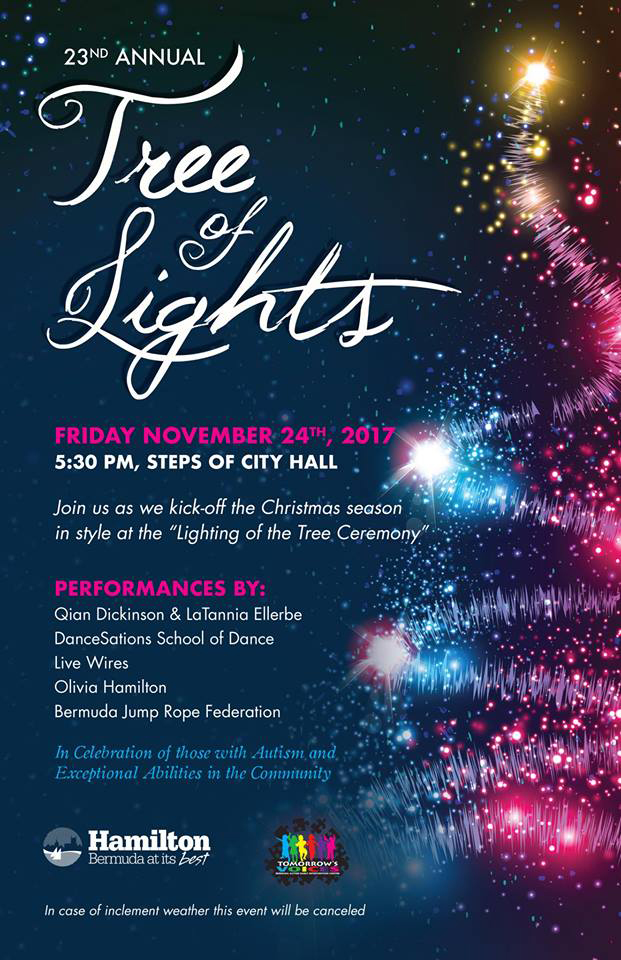 23rd Tree of Lights Ceremony Poster Bermuda Nov 23 2017