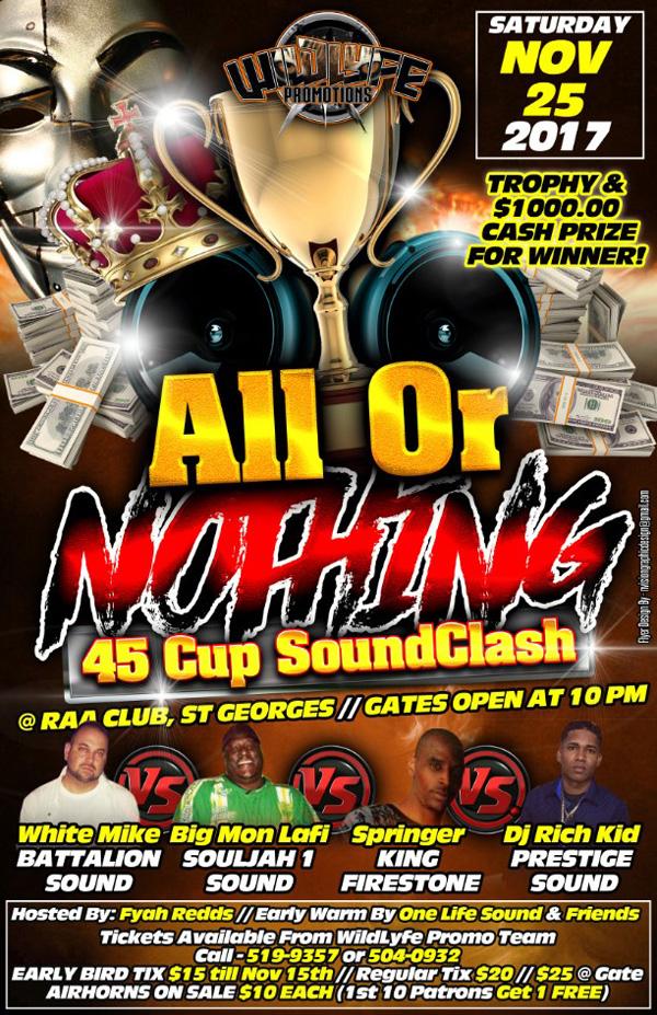 All or Nothing Bermuda Nov 2017