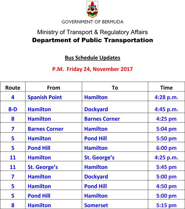 Bus Schedule Updates Friday 24-11-2017-3