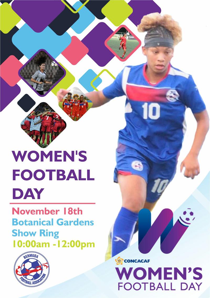 CONCACAF Womens Football Day Bermuda Nov 16 2017