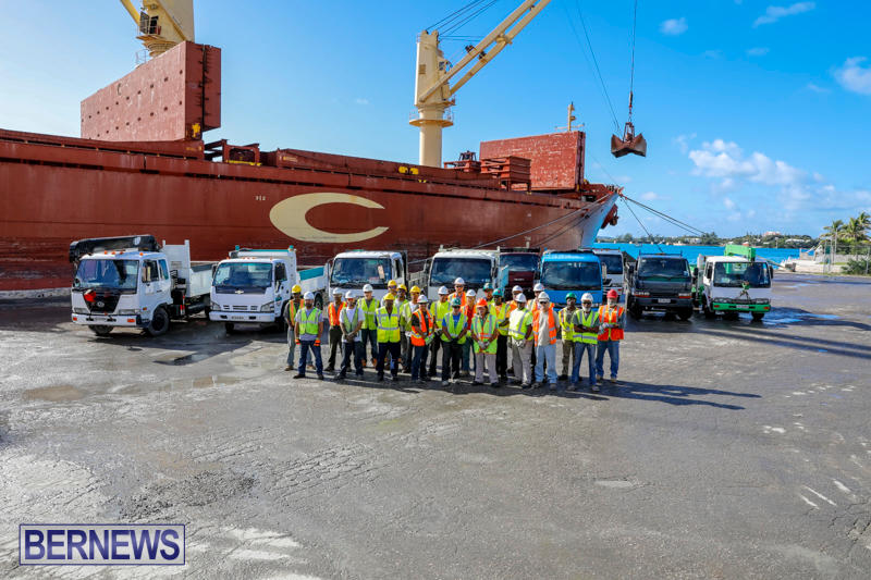 Correia Construction Airport Aggregate Trucks Bermuda, November 3 2017_9617