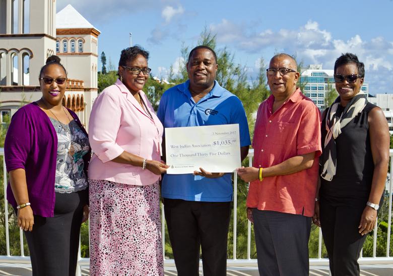 Donation to WIA Bermuda Nov 2017