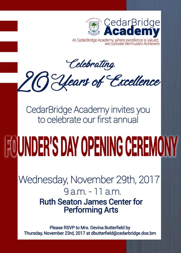 Founder's Day Bermuda Nov 2017