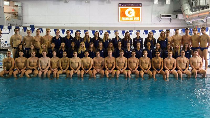 Georgetown University swim team Bermuda Nov 2017