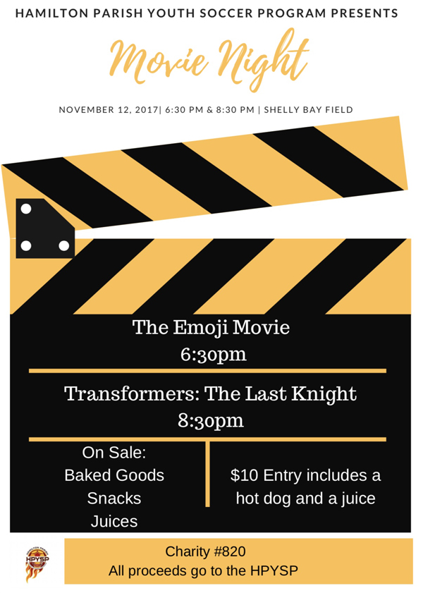 Hamilton Parish Movie Night Bermuda Nov 2017