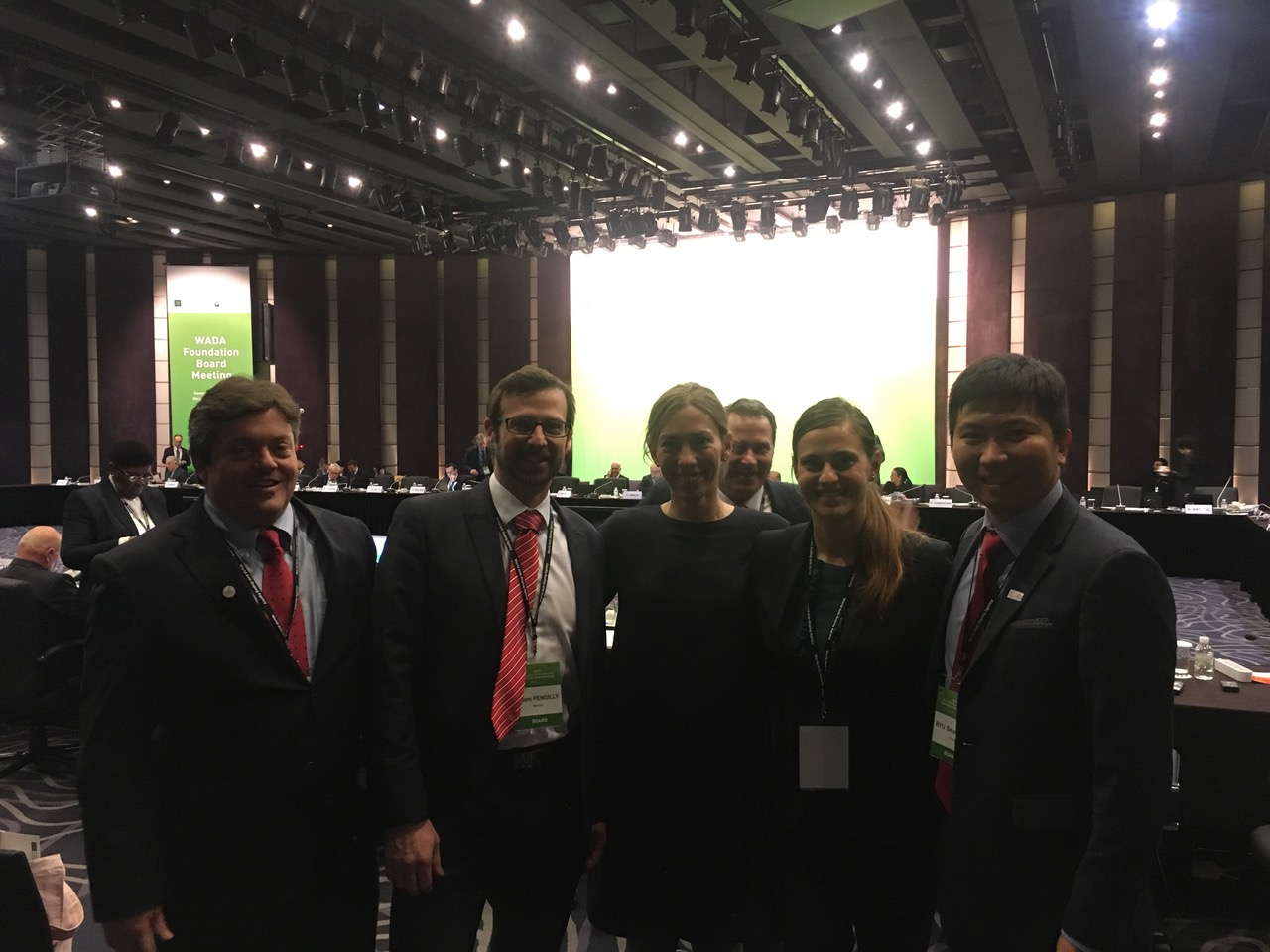 Patrick Singleton at the WADA Foundation Board Meeting in Seoul
