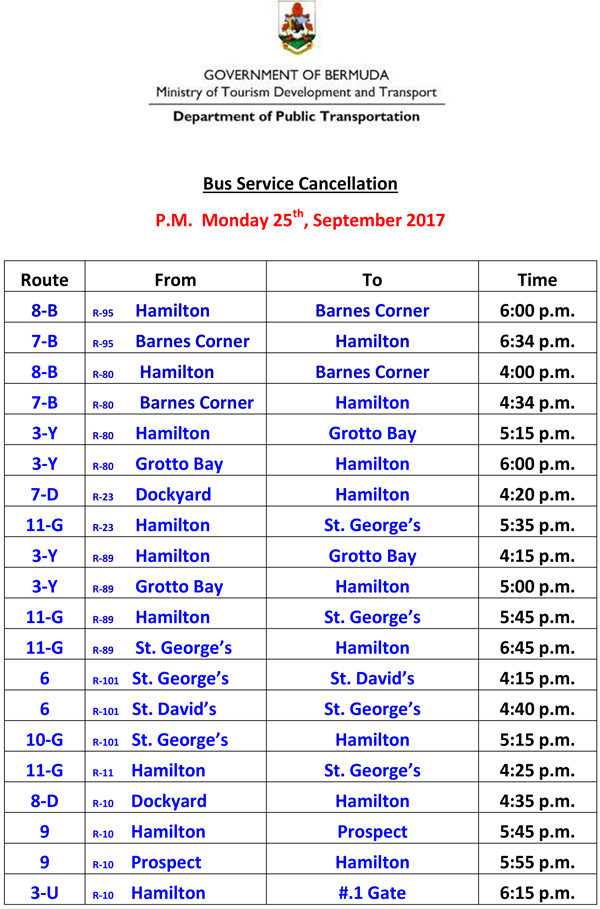 Microsoft Word - Bus Service Cancellation  Monday 25-9-2017