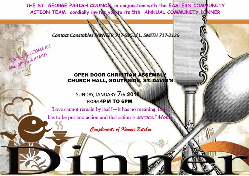 Community Dinner Bermuda Dec 2017