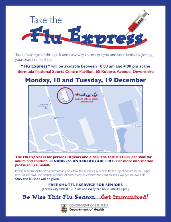 Flu Express Bermuda Dec 2017
