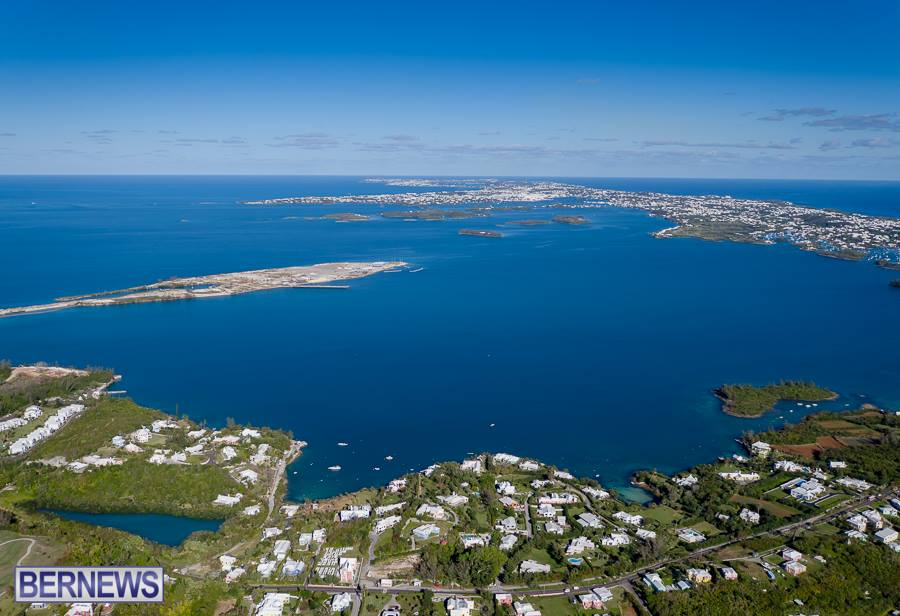 216 Looking east over Bermuda. How is your view