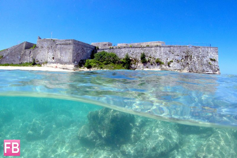 313 A unique view of #Bermuda's Fort St. Catherine, which was built in the 17th century