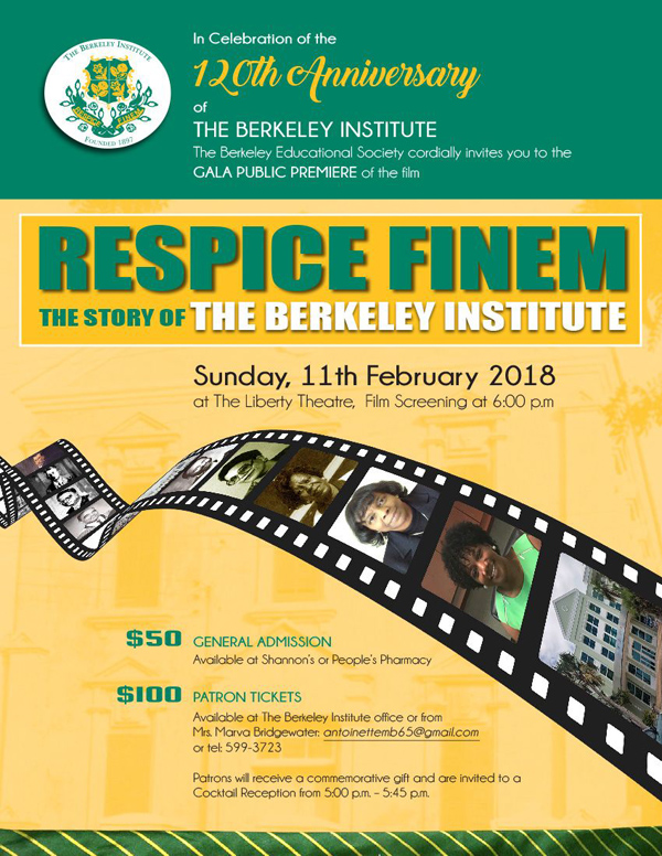 Berkeley Film Gala Bermuda Jan 2018