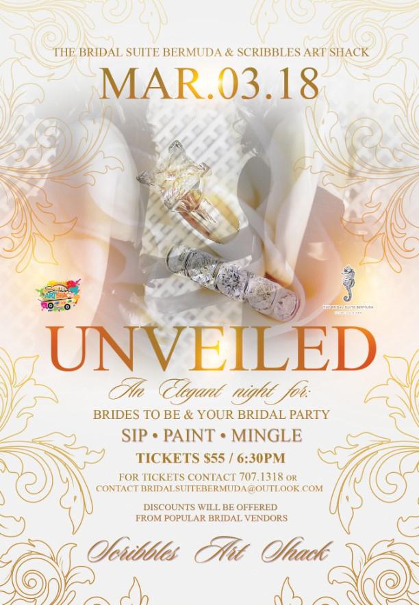 Bridal Suite Bermuda & Scribbles Art Shack Jan 2018