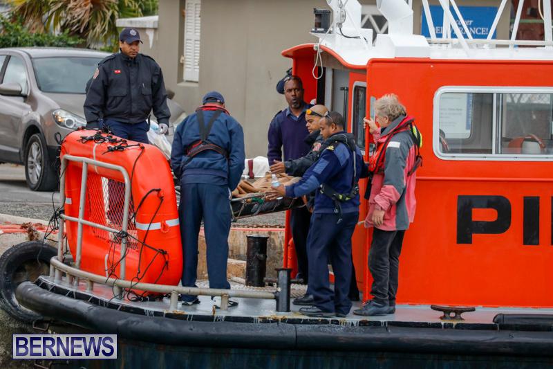 Injured Crew Members Car Ship Pegasus Highway Medivac Bermuda, January 6 2018-2244