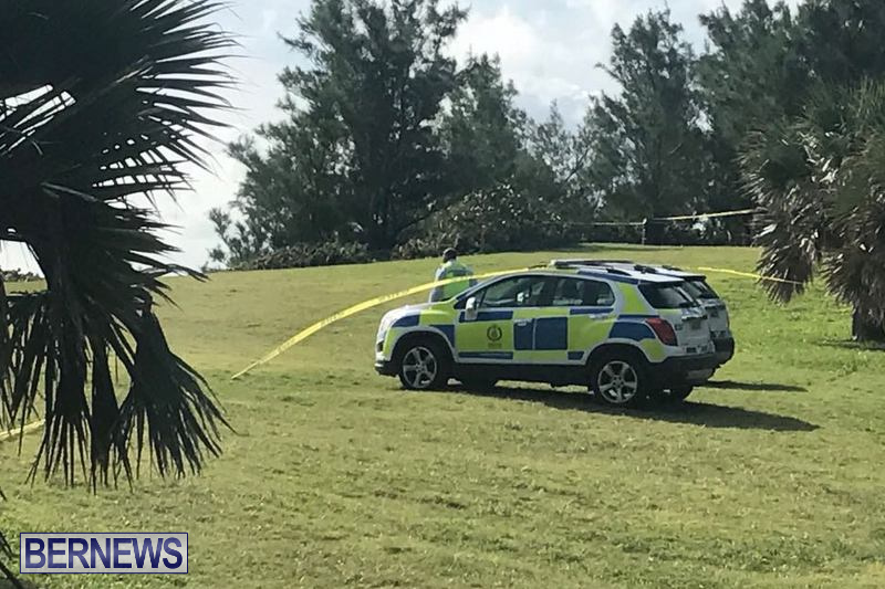 Police Car Astwood Park Bermuda, January 6 2018