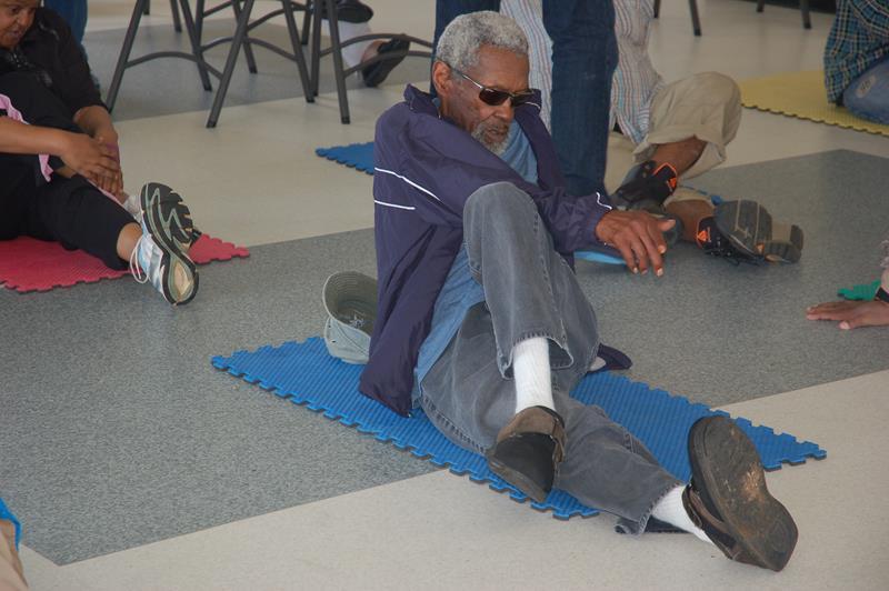 Senior's stretching