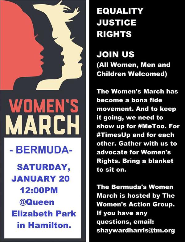 Women's March Bermuda Jan 2018