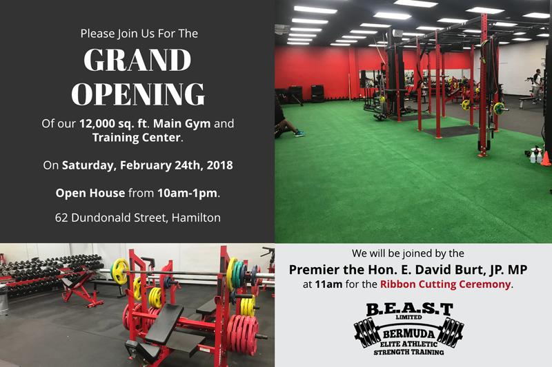 BEAST Grand Opening Bermuda Feb 20 2018