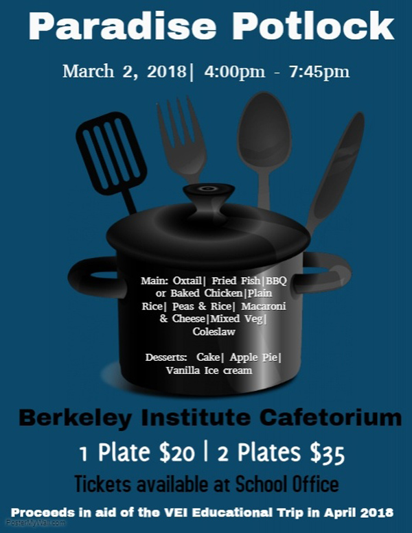 Berkeley Institute VEI Paradise Potluck Bermuda Feb 2018