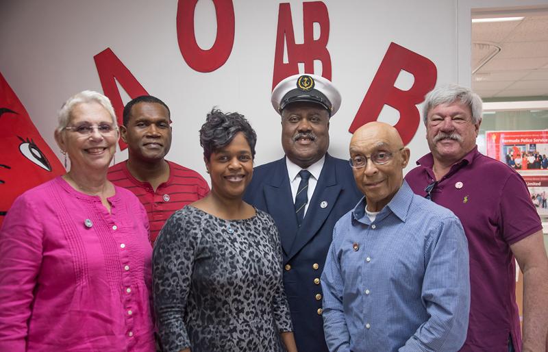 Blood Donor Pins Group Bermuda Feb 2018