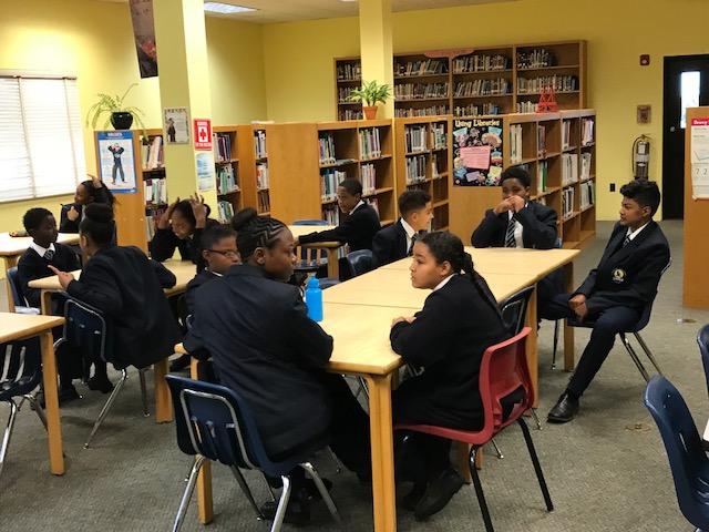 Hamilton Princess donates books to Clearwater Middle School Bermuda Feb 28 2018 (3)